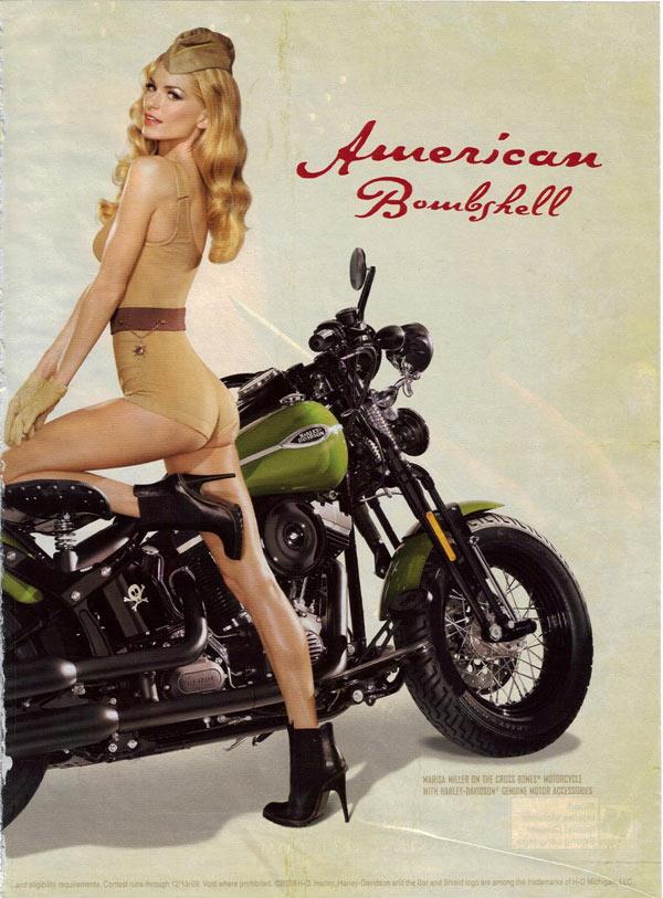 Vintage Harley Davidson Advertisement