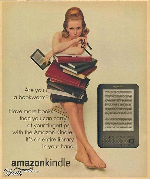amazon kindle vintage style advertisement