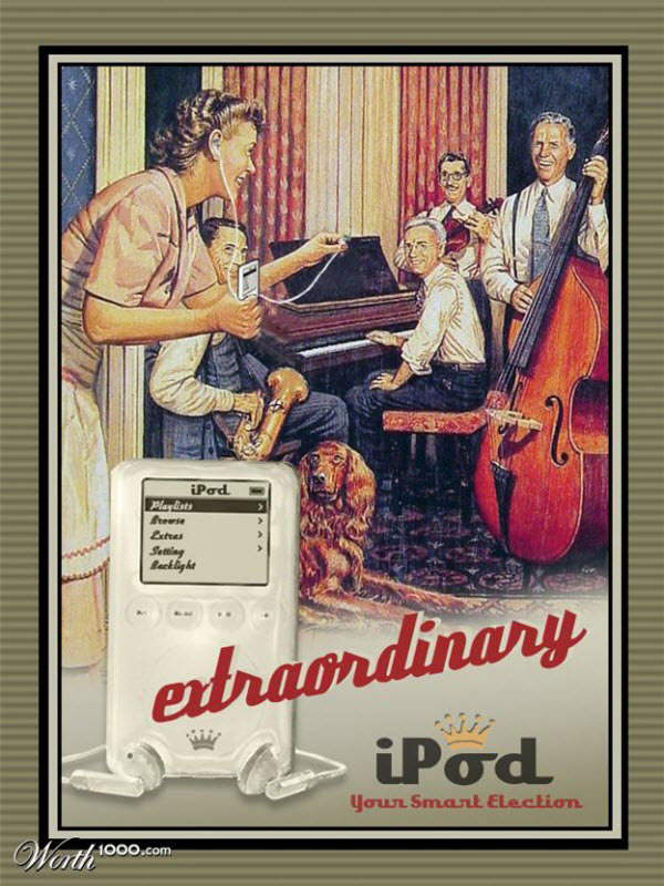 iPod vintage style advertisement