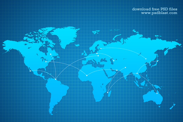 World Map PSD
