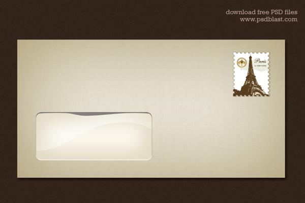 Blank Envelope Template (PSD)