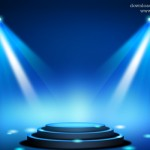 Stage Lighting Background with Spot Light Effects (PSD)