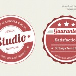 Vintage Web Badge PSD