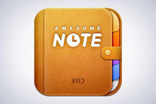 Awesome Note iOS App Icon design by BRID