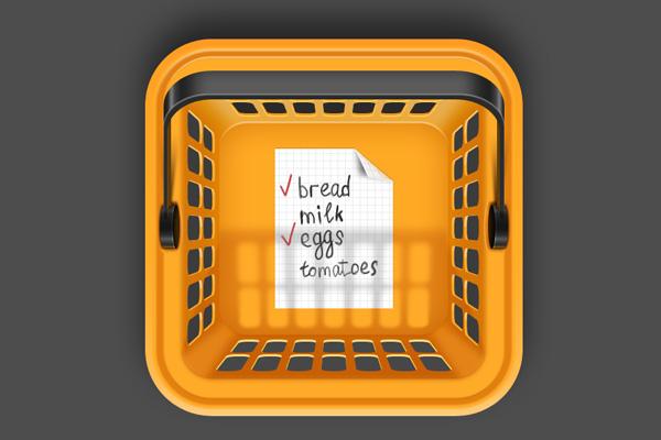 Basket iOS App Icon by Oleg Sheremet