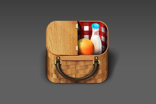 Basket iOS App Icon by Ryan Ford