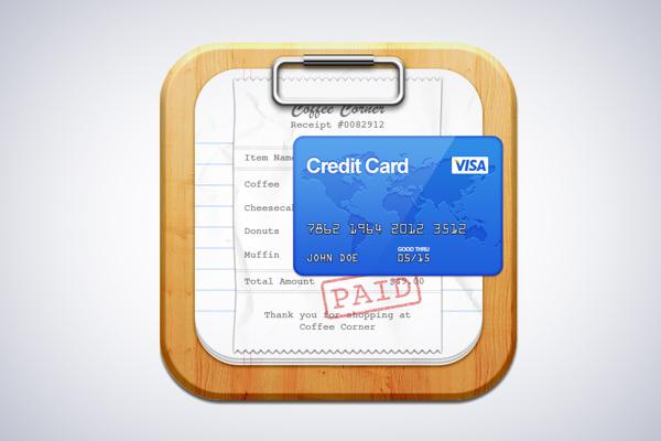 Bill Organizer iOS App Icon design by Umar Irshad