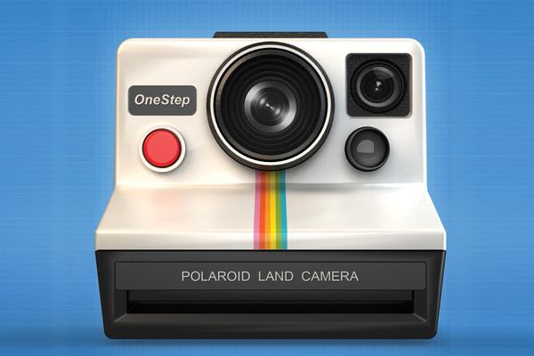 Camera Icon Polaroid OneStep by Javier López