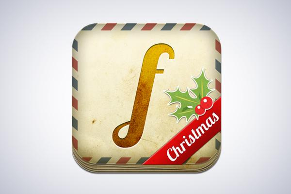 Facecard Christmas Edition iOS App Icon design by Virtualtwo