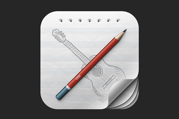 Guitar Learning iOS Icon by Asher