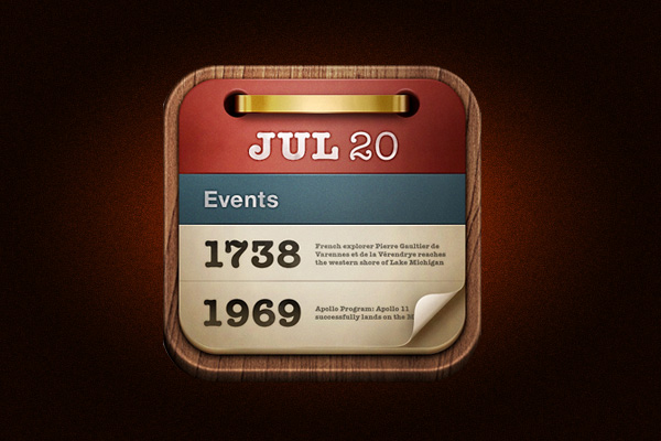 On this day iOS App Icon develop by Sophiestication Software