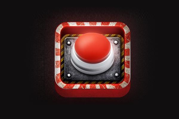 Panic Button iOS App Icon design by Dash