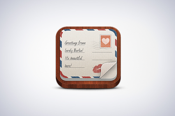 Postcard App icon by Winston Wolfe