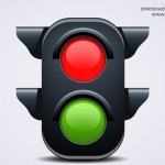Traffic Light Icon (PSD)