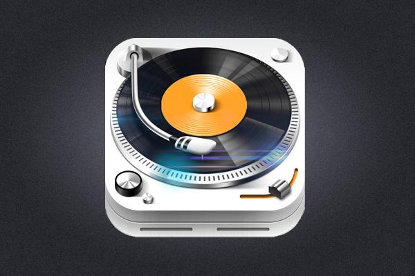 TunesMate iOS App Icon design by Zaewan Suh