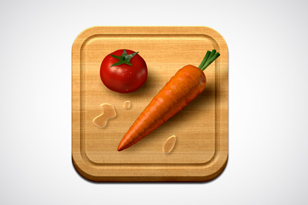 Veggie Meals iOS App Icon design by Max Rudberg
