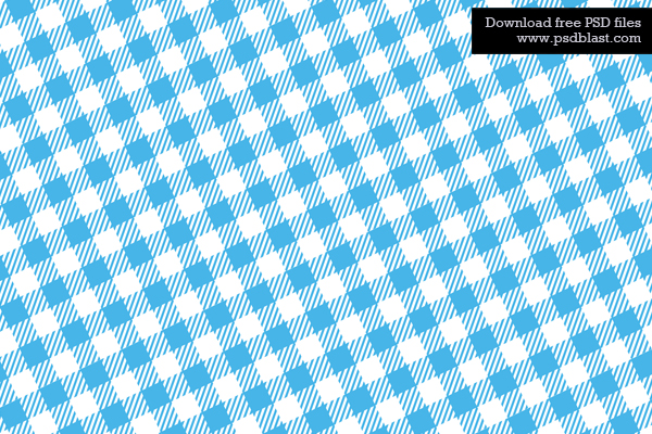 Gentil Checkered Fabric Texture. Blue Tablecloth Background