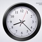 Classic Clock Icon (PSD)