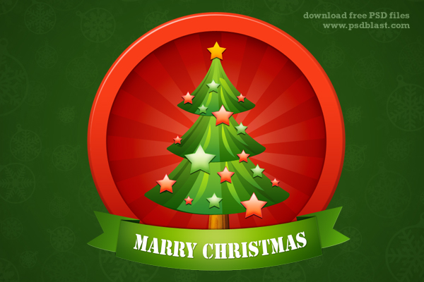 Christmas Tree Icon ( PSD)