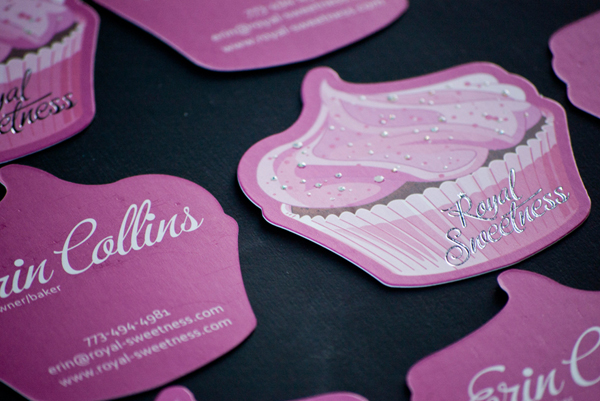 16pt Silk Business Card Custom Cup Cake Die-Cut by We The Printers