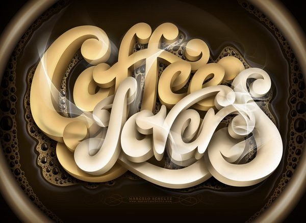 Coffee Lovers typography design by Marcelo Schultz
