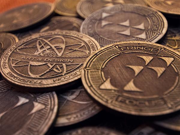 Fringe Focus Wooden Coins by FringeFocus