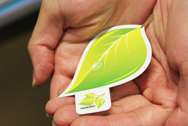 Generation Green business card by Lemongraphic