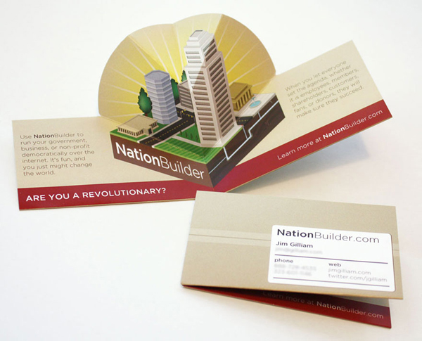 NationBuilder Pop-up Business Card by Lori Boos