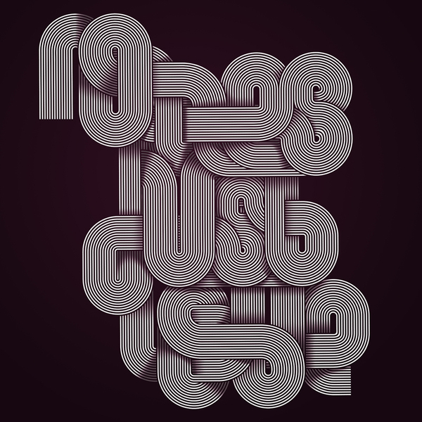No Lies Just Love Typography Design by Jordan Metcalf