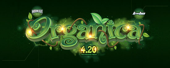 Organica typography design by Jesse Castano