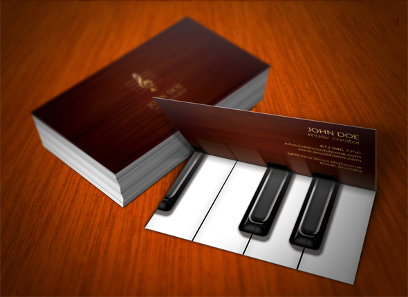 Piano Business Card by Pavel