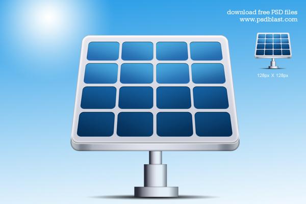 Solar Energy Vector Icon (PSD)