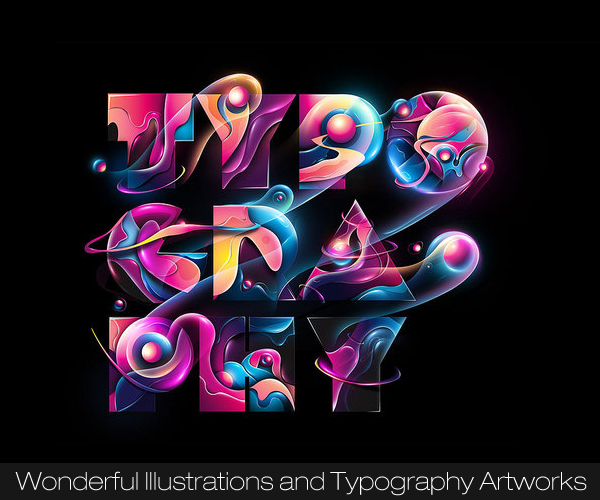 Wonderful Illustrations and Typography Artworks by Humza
