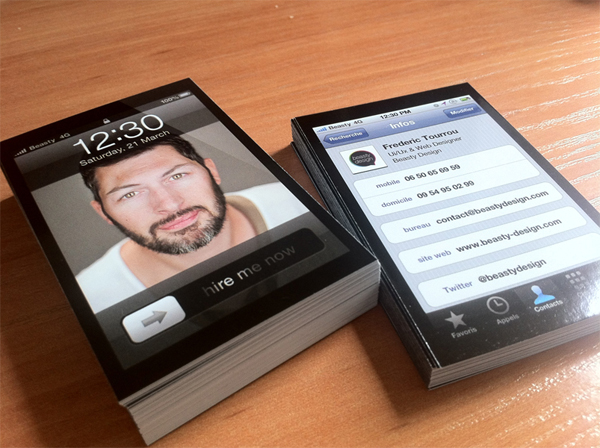 iPhone Business cards by Beasty Design