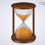 Sand Timer Icon, Hourglass Icon PSD
