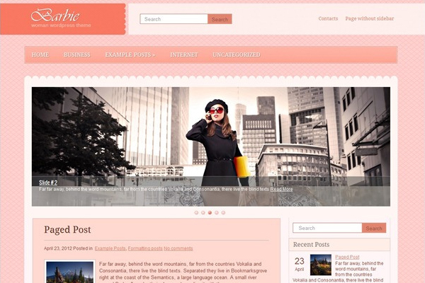 Barbie- Free WordPress Theme