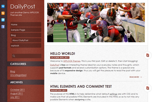 DailyPost- Free WordPress Theme