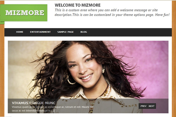Mizmore Free WordPress Theme
