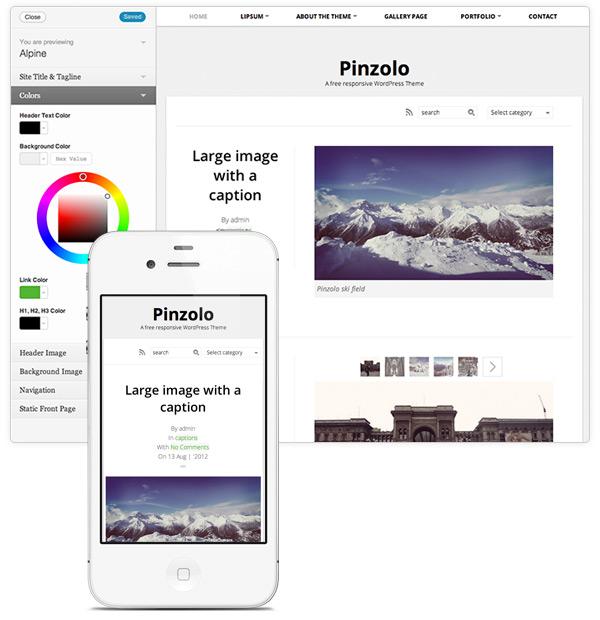 Pinzolo – A free responsive WordPress theme
