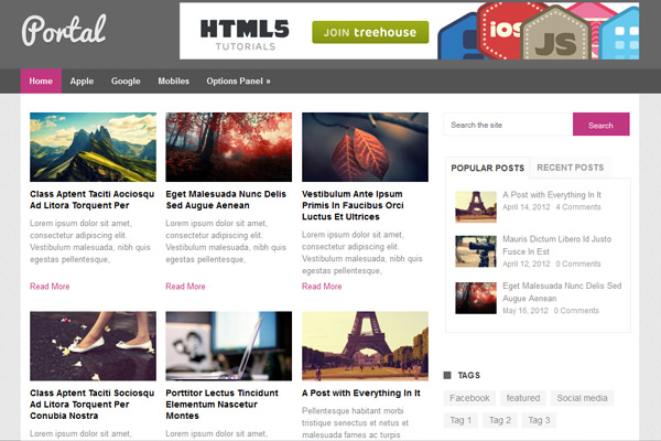 Free WordPress Theme: Portal