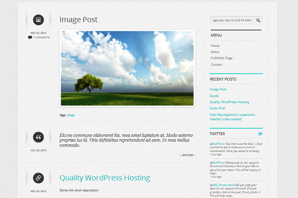 Shortnotes - Premium Responsive Tumblog WordPress Theme