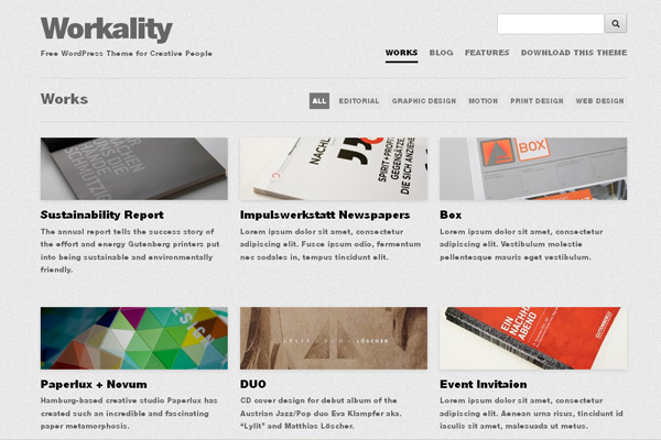 Workality - modern responsive Free WordPress theme