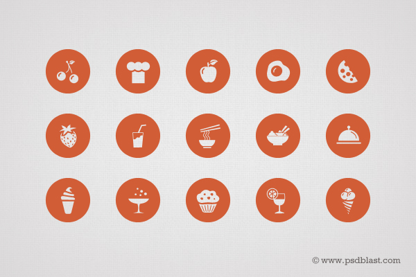 50 Food Icon Set (PSD)