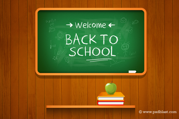 Vector Back to school Background