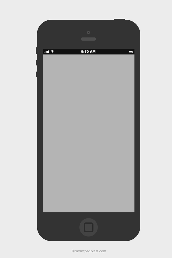 Black iPhone Design Template