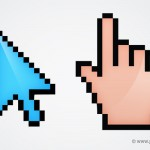Mouse Cursor PSD and Hand Pointer Icons