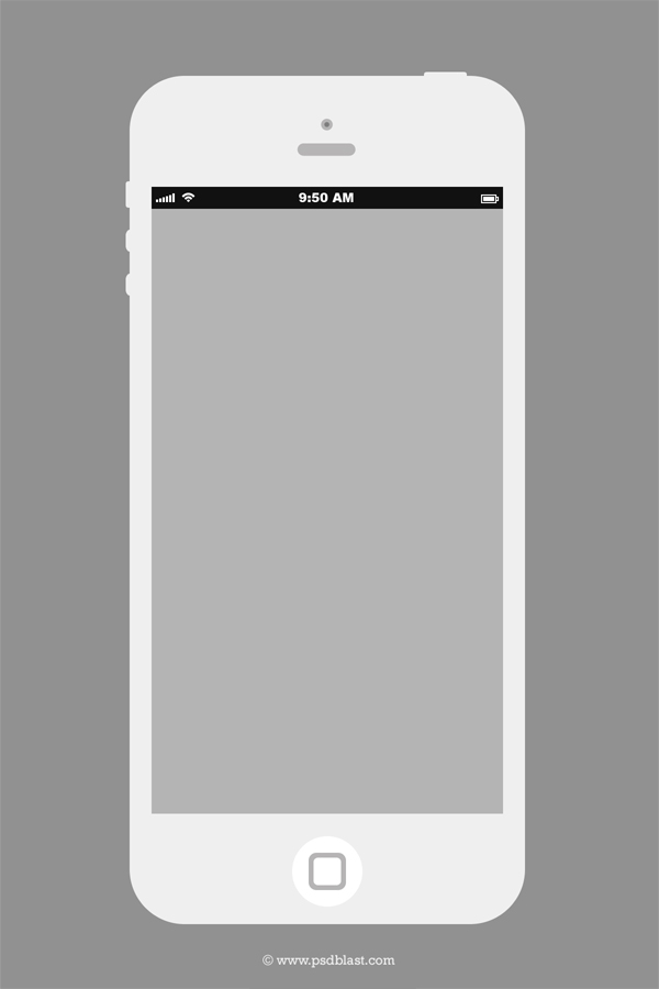 White iPhone Design Template