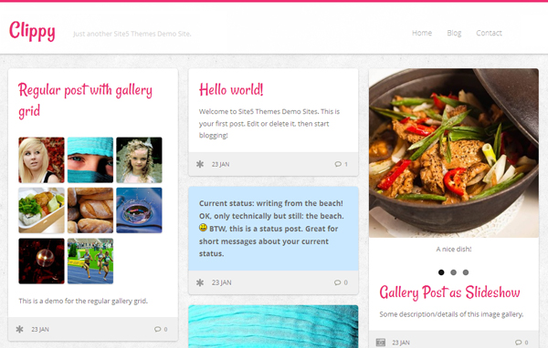 Clippy - Pinterest style layout Grid Theme with responsive layout
