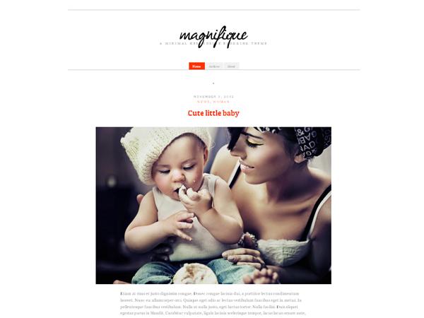 Magnifique Free WordPress Theme