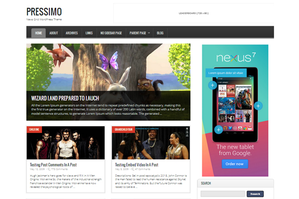 Pressimo Free WordPress Theme